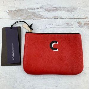 """Rebecca Minkoff """"C"""" Monogram Leather Coin Purse"""